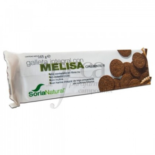GALLETA INTEGRAL CON MELISA 165G