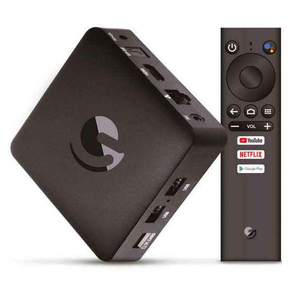 Engel en1015k negro android tv 4k ultra hd dispositvo para convertir el televisor en smart tv